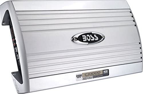 Boss Cx1000 Chaos Exxtreme 2000 Watts 4-channel Mosfet Power Amplifier Capable Of Powering Dual 2000w Sub woofers Or Loudspeakers High-Speed Mosfet Power Supply Without Power Related Defects
