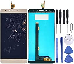 Mobile display LCD Screen and Digitizer Full Assembly for Tecno Infinix Note 3 Pro X601 (Black) (Color : Gold)
