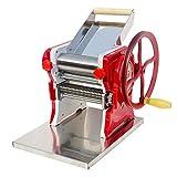 YXMxxm Máquina para Hacer Pasta,Acero Inoxidable,Espesor Ajustable,Rodillo Manual para Fideos,para Hacer Espaguetis,Fettuccini,Lasaña