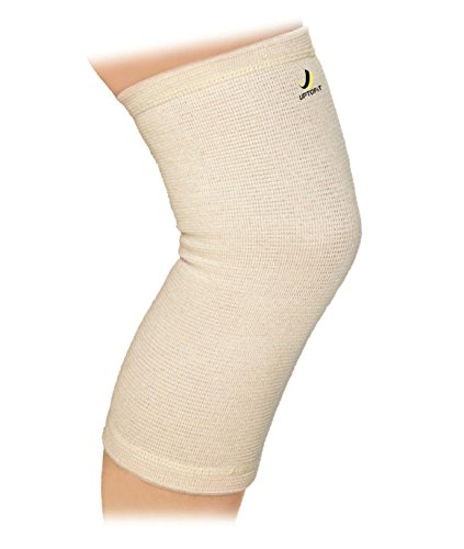 UptoFit True Copper Compression Knee Sleeve, Lightweight Brace for Everyday Knee Support, Breathable Fabric for Jogging and Daily Activity, Unisex, Large