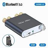 Amplificatore di potenza Bluetooth Ricevitore stereo senza fili Mini 2 CH Hi-Fi Digital Amp 100W x 2 con alimentazione DC24V - Fosi Audio ZK-1002D