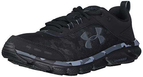 Under Armour Men's Charged Assert 8 Camo Running Shoe, Black (001)/Black, 10