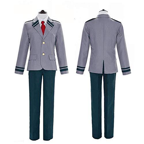 IAIZI Männer Frauen Academy Cosplay Schuluniform Mantel mit Hosen/Röcke Dark Green ZGHE