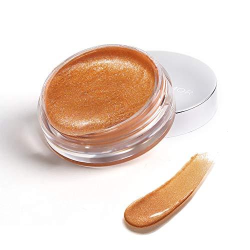 PanDaDa Jelly Liquid Eyeshadow Highlighter Langlebiger, wischfester, wasserfester Lidschatten Make-up Gel für die Augen, blau/orange/lila/pink/braun/roter Lidschatten