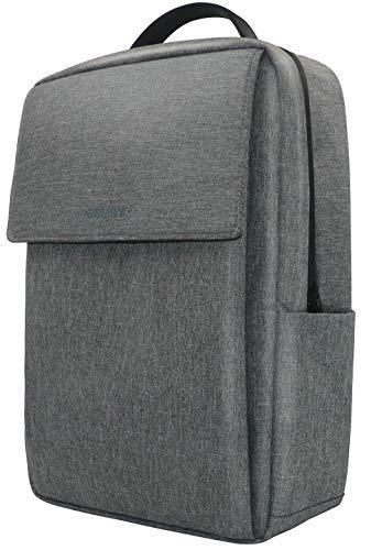Laptop Backpack, Business Travel Slim Durable Waterproof Backpack Gift for Men, Simple Design Computer Backpack Fits 15.6 Inch Notebook, Grey