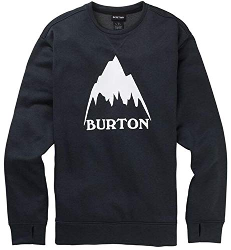 Burton Men's Oak Crew Sweatshirt, True Black Heather W20, XX-Large