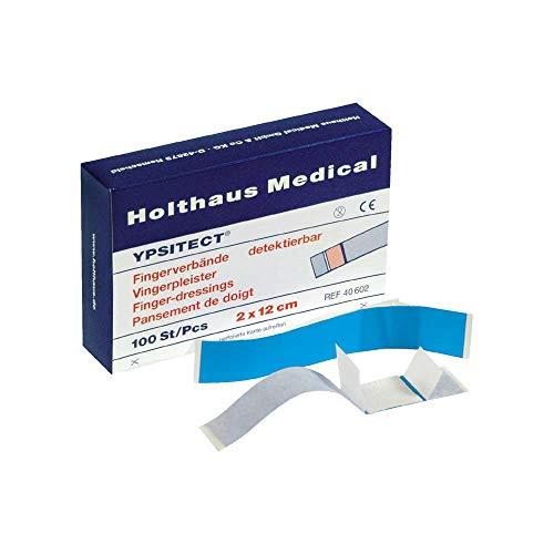 Holthaus Medical YPSITECT Fingerverband Fingerpflaster Pflaster, detektierbar, blau, wasserfest, 100St