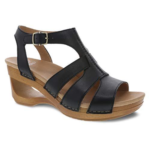 Dansko Women's Trudy Black Wedge Sandal 9.5-10 M US