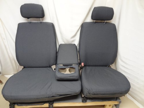 Durafit Seat Covers, Made to fit 2000-2004 Tundra Front 40/60 Split Seats with Fold Down Console. Gray Automotive Twill.
