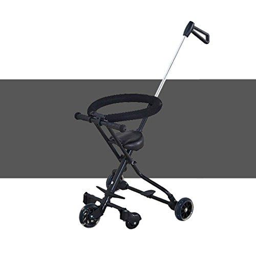 MuMa Landaus avec Baby Out Baby Ultralight Cinq Tours Peuvent être pliés Up Kids Trolley Ultralight Toy Car (Couleur : Noir)