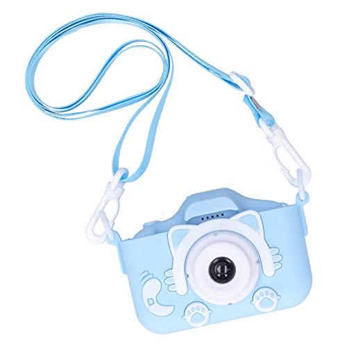 Mxzzand 2.0in IPS Environmentally Friendly X5S Digital Camera Small Size Children Camera Toy Silicone The Best Thanksgiving/Christmas/Birthday Gift for Kids(Blue)