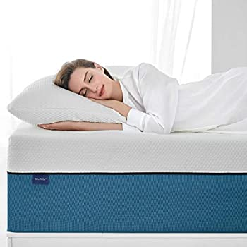 King Size Mattress Molblly 10 inch Cooling-Gel Memory Foam Mattress in a Box Breathable Bed Mattress for Cooler Sleep Supportive & Pressure Relief, 76  X 80  X 10