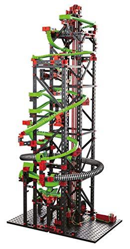 fischertechnik Kugelbahn Dynamic XXL mit einer einzigartigen Streckenlänge von 5,6m – 3 Modelle – Komplettset inklusive Motor, Rainbow-LED, Looping, Stop & Go, Wechselweiche für grenzenlosen Spielspaß - 3