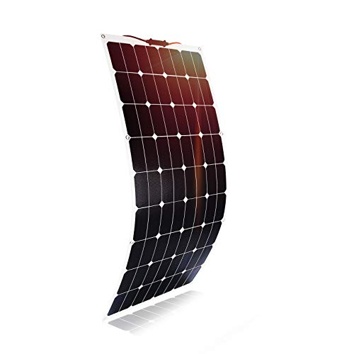 Kingsolar 120W Duradero ETFE Semi Flexible Panel Solar Cargador de batería para automóvil, barco, caravana, etc.