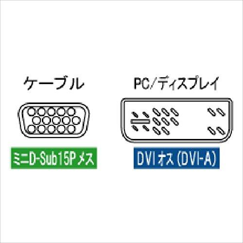 『アイネックス VGA変換アダプタ VGA-DVI ADV-205』のトップ画像