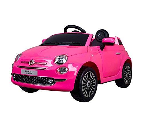 B90106 Coche eléctrico para niños FIAT 500 cabrio asiento