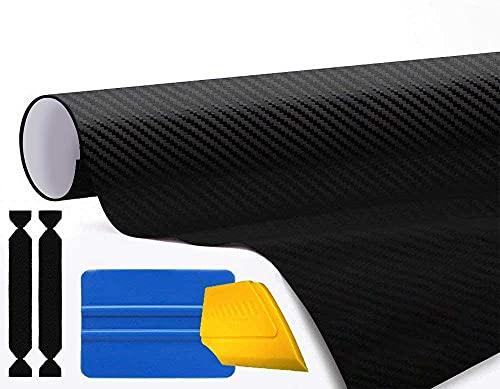 3M 1080 Carbon Fibre Black Air-Release Vinyl Wrap Roll Including Toolkit (3ft x...