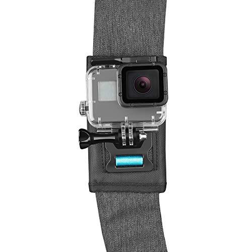 SHOOT Rucksack Schultergurt Halterung mit 360 ° Drehhaken für GoPro Hero 8/7/6/5/4/3/3+,OSMO Action Kamera,SJCAM,XIAOYI,APEMAN,Campark, Crosstour
