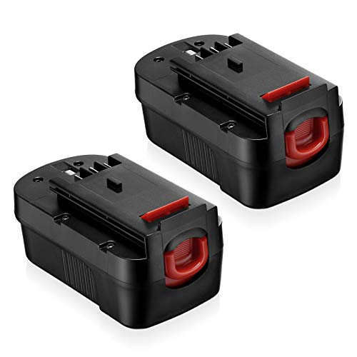 [Upgrade 4000mah] 18v Black and Decker Replacement Battery, HPB18 Battery Compatible with Black and Decker Drill 18volt Battery, HPB18-OPE 244760-00 A1718 FS180BX FS18BX FS18FL FSB18 (2 Packs)