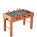ANGELA Table Football Machine 8 Rod, Wooden Soccer Foosball Table,...