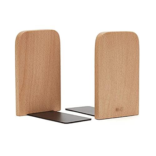 Teayason - Fermalibri decorativi in legno, confezione da 1 paio di fermalibri regolabili per libri non soffice con supporto per libri d'arte, realizzati a mano, colore: nero