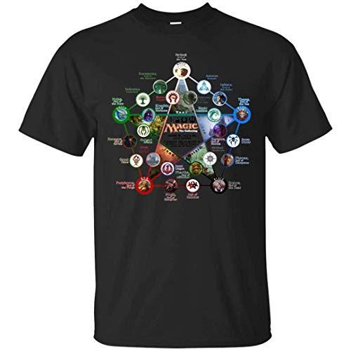 Free World - Mens tee Magic The Gathering Camiseta de Manga Corta con Cuello Redondo para Hombre
