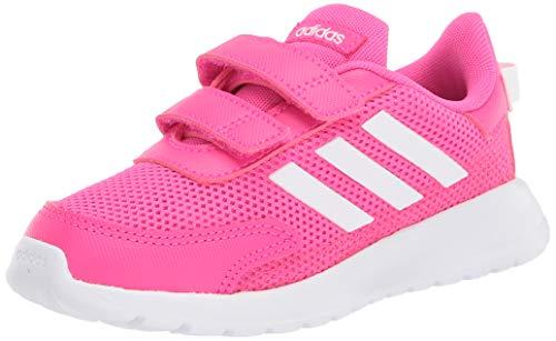 adidas Baby Tensaur Run I Sneaker, Shock Pink/FTWR White/Shock Red, 4K M US Infant