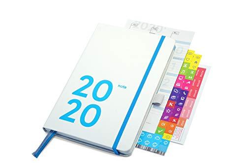 weekview compact note Plus 2020 | white edition (mit Froschtasche und Stiftschlaufe)