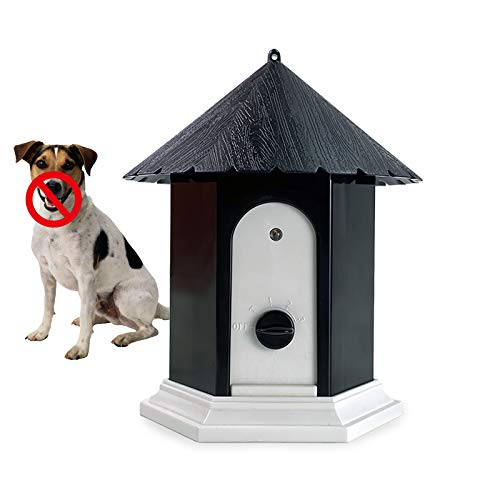 Unicam Anti Barking Device for Dog, Ultrasonic Bark Deterrents Controller, Dog Bark Control System Device, Waterproof Outdoor Decorative Pavilion Shape, Mini, Durable