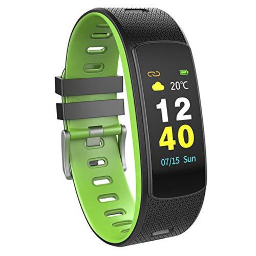 Fitness Smart Watch, I6 HR C Smart-Armband Herzfrequenz-Tracker Sport Smart-Armband-Farb-LCD Band Fitness-Monitor Tracker I6HRC Armband Uhr,Grün