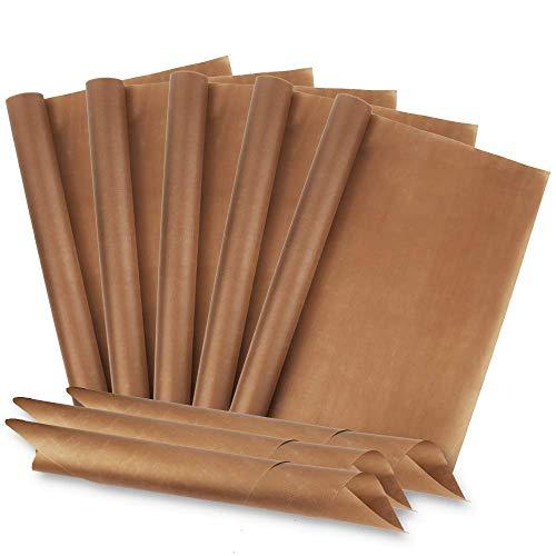 Lamina di cottura Redmoo (set di 8, 40 x 60 cm) La carta da forno Premium in fibra di vetro, riutilizzabile, resistente al calore, con rivestimento antiaderente può essere tagliata e lavabile