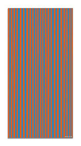 Agatha Ruiz de la Prada Alfombra Vinílica Estampados Básicos Líneas Naranjas y Azules 200x250cm - Alfombra Cocina Vinilo - Alfombra Salón Antideslizante e Ignífuga - Alfombras Grandes - Alfombras PVC