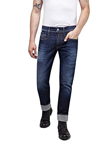 Replay Herren Anbass Slim Jeans, Blau (Dark Blue 7), W32/L32 (Herstellergröße: 32)