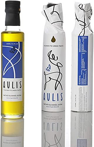 Aulis Premium Natives Olivenöl Extra Flasche mit 250ml - KALTGEPRESST