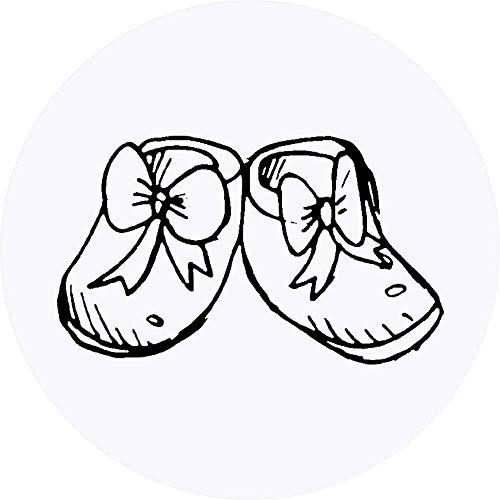 Azeeda 24 x 40mm Runden 'Baby Schuhe' Aufklebern / Stickers (SK00008333)