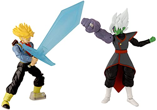 Dragon Ball Super - Dragon Stars Future Trunks vs Fusion Zamasu Battle Pack, Multicolor, 37166