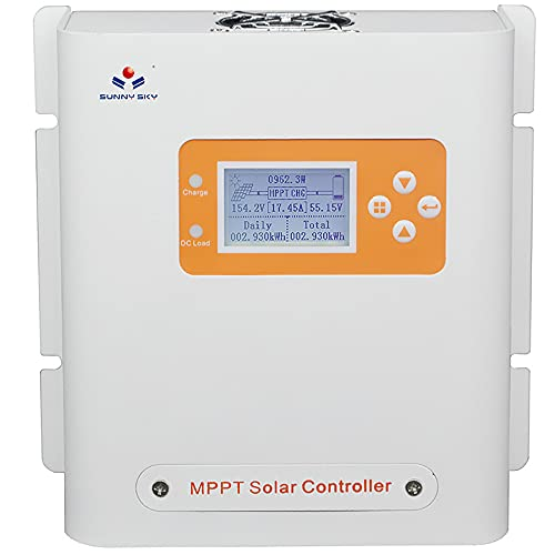 SUNNYSKY MPPT Solar Charge Controller 30 amp 12V 24V Auto&Smart Solar Panel Regulator Max 100V PVinput 840Watt Power with Intelligent LCD Display for Lead-Acid Gel Lithium Battery