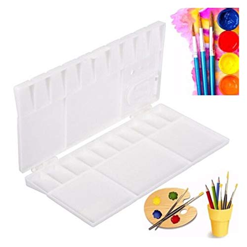 BZRXQR Oil painting palette, 1PCS Palette Large Art Paint Tray Artist Oil Watercolor Plastic Palettes For Painting Drawing Supply Kids Drawing Toy for DIY Art (Color : White)