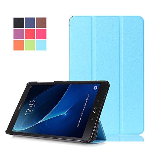 Galaxy Tab A6 10.1 Zoll Schutzhülle,PU Leder Smart Case Flip Cover für Samsung Galaxy Tab A 10.1 Zoll Wi-Fi/LTE (2016) SM-T580N/SM-T585N Tablet Schutzhülle Etui Tasche mit Support-Funktion,Hellblau