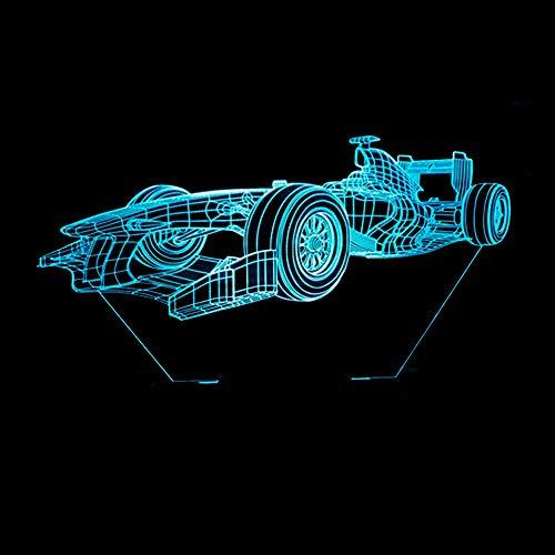 Luxe Cool Racing Car 3D Lampe de Table Enfants Jouet Cadeau LED Cool Boy NIGHT LIGHT maison décoration garçon cadeau Gradient Anniversaire De Noël