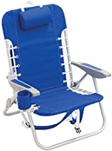 Rio Brands Beach 4-Position Lace-Up Backpack Folding Beach Chair, 44.7
