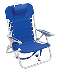 EASY TO TRANSPORT: Rio Beach backpack chair offers hands-free portability and is lightweight to carry, making it easy to take with you to the beach, lakefront, or outdoor sporting event PINCH-FREE SEAT ADJUSTMENTS: 4-position easy-adjust recline opti...