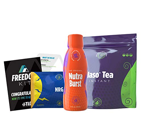 TLC Total Life Changes Freedom Kit - NutraBurst Liquid Multivitamin - 32 Servings | (1) Month Supply of NRG Dietary Supplement | (1) Month Supply of Original IASO Instant Tea (25 sachets)
