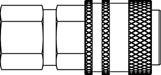 Steel 1-1//4 2500 psi 1-1//4 HNV Tip Tompkins HNV-20M-20FP Quick Disconnect 1 1//4-11 1//2 FP
