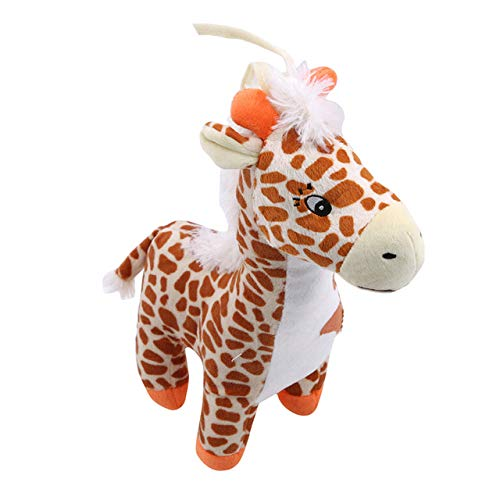 Heguowei Soft Soothing Plush Toy Pull Ring Hanging Bell Toy For Children Plush Doll Cow Deer Music Box deer