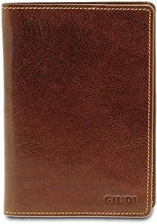 GIUDI ® - Porta passaporto in pelle vacchetta, custodia passaporto, vera pelle, portafoglio, Unisex Uomo Donna, Made in It...