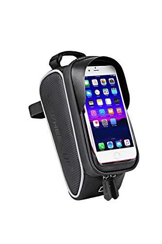 Extrbici Fahrrad Rahmentasche Baonuor Fahrrad Handytasche für iPhone 7 Plus/6s Plus/6 Plus/Samsung s7 Edge andere bis zu 6 Zoll Smartphones, Wasserabweisende Fahrrad Lenkertasche