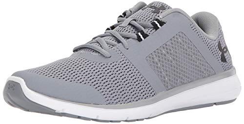 Under Armour Men's Fuse FST Running Shoe, Steel (100)/White, 13