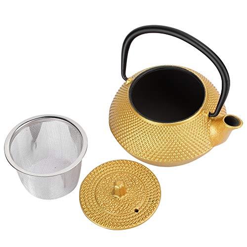 Tetera de hierro sin recubrimiento, tipo de gancho hecho de hervidor de té de hierro 0.3L