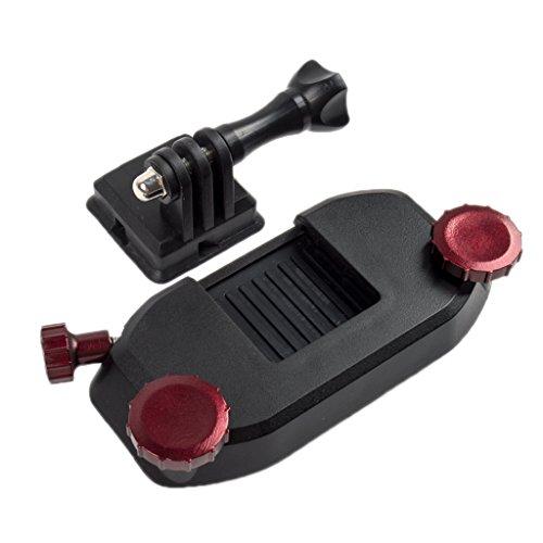 MagiDeal Rucksack Schultergurt Kamera Halterung Adapter Schnellverschluss Montage Schnalle für GoPro Hero - Rot